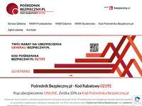 Kod Pośrednika Bezpieczny.pl - 02195 - Twój rabat na polisy NNW