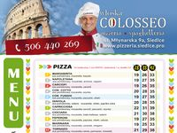 Pizzeria Siedlce | ul. Młynarska 9a | Colosseo