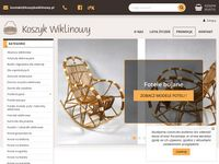 Sklep internetowy z wyrobami z wikliny i drewna