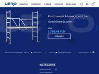 Lero24 - drabiny i rusztowania aluminiowe