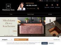 MiedzianyDom.pl - Najwyższej jakości umywalki i zlewy miedziane