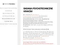 Badania psychotechniczne Kraków, psychotesty, badania medycyna pracy