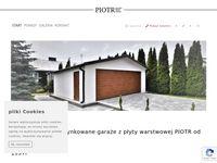 Garaże tynkowane Piotra idealne do ogrodu