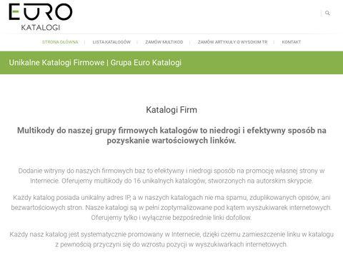 Lista 16 Katalogów Firm | Grupa EuroKatalogi.pl