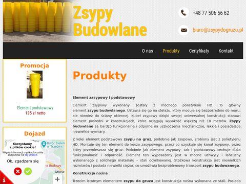Zsypy budowlane - Serwis Budowy S.A