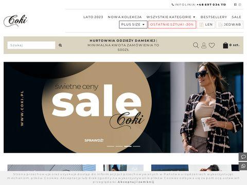 Hurtownia odzieży damskiej, hurtownia odzieży włoskiej - coki.pl