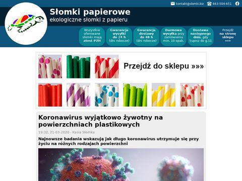 Ekologiczne słomki z papieru