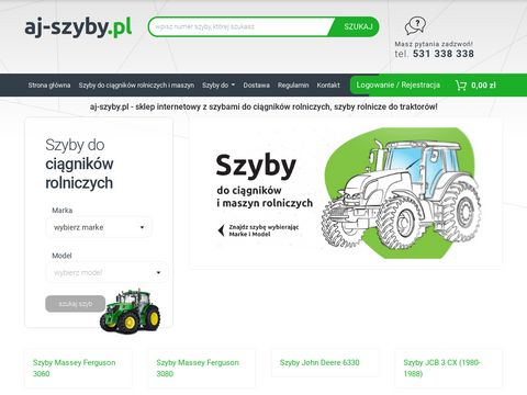 Aj-szyby.pl - Szyby do ciągników i maszyn rolniczych