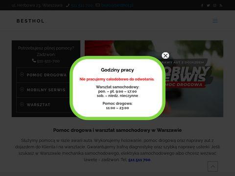 BESTHOL - Pomoc drogowa Warszawa, Holowanie, Mobilny serwis 24h/7