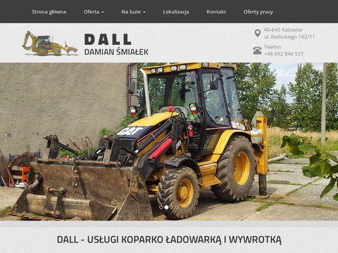 Usługi koparko-ładowarką Katowice - wykopy, załadunki i transport - DALL