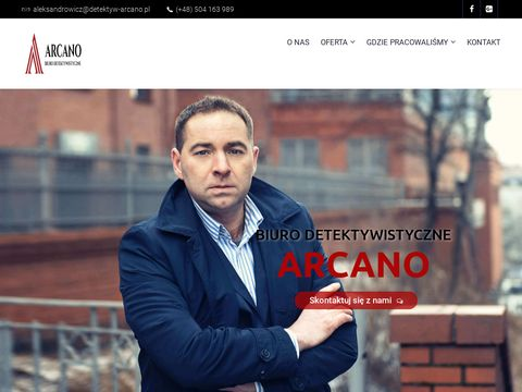 """Biuro Detektywistyczne """"Arcano"""" Paweł Aleksandrowicz"""