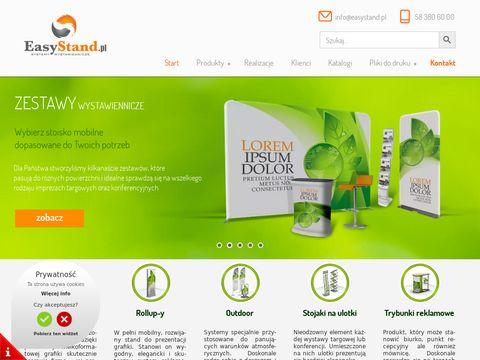 EasyStand - Åšcianki reklamowe, Å›cianki tekstylne, Systemy wystawiennicze