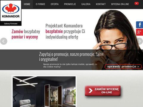 FajneSzafy Komandor - szafy, meble biurowe, wyposażenie wnętrz | Warszawa