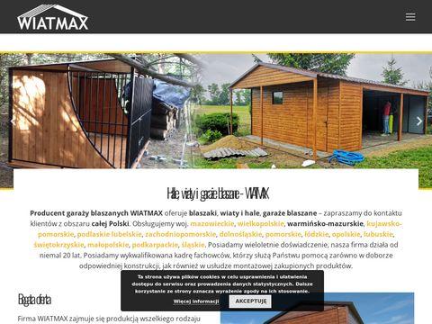 Wiatmax - wiaty i hale blaszane - kojce dla psów