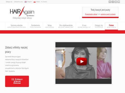 Zag臋szczanie w艂os贸w - hairagain.com.pl