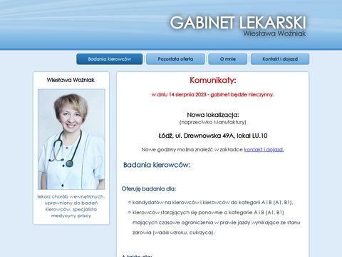 Badania na prawo jazdy 艁贸d藕 - http://lekarz-wozniak.pl/