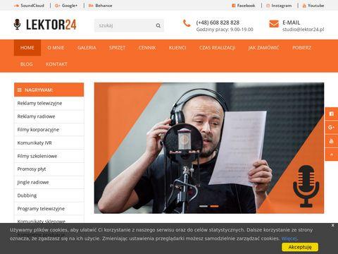 Nagranie lektora | lektor do filmu | Lektor do reklamy