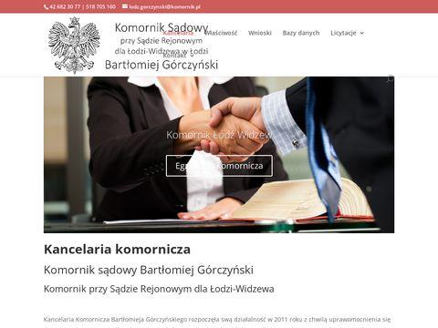 Komornik �ódź Widzew B. Górczyński - egzekucje komornicze