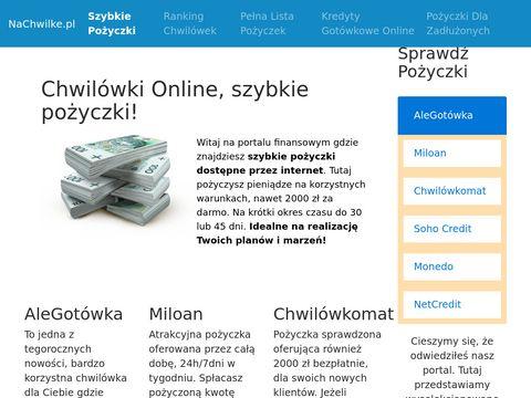 Szybkie pożyczki i kredyty online