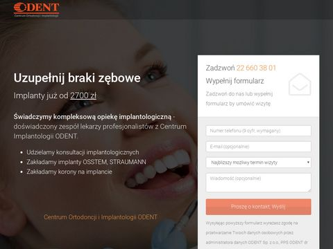 Implanty zębów Warszawa - odentimplanty.pl