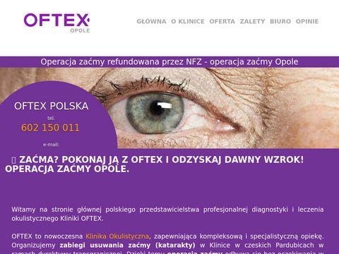 OFTEX Opole - Operacja za膰my (katarakty) w Czechach
