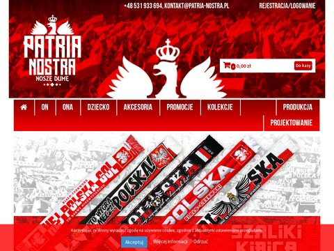 PATRIA NOSTRA - produkcja odzieży i gadżetów reklamowych na zamówienie