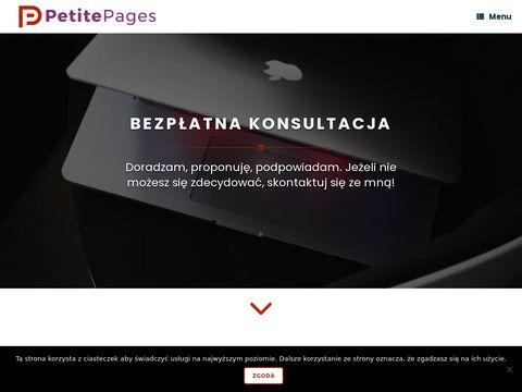 Tanie i profesjonalne strony internetowe   PetitePages.pl