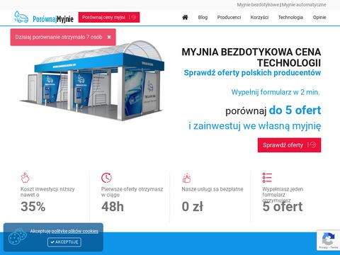 Myjnie bezdotykowe jako pomys艂 na biznes - Por贸wnajmyjnie.pl