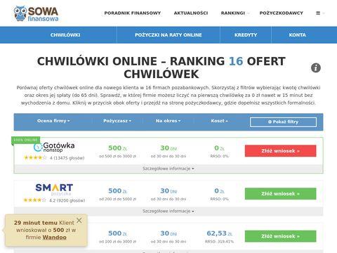 Porównywarka chwilówek pozycz1000.pl