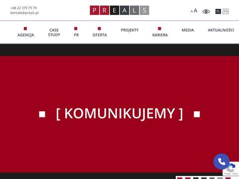 Strony internetowe warszawa - preals.pl