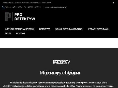 Agencja Detektywistyczna ProDetektyw Biuro detektywistyczne Warszawa