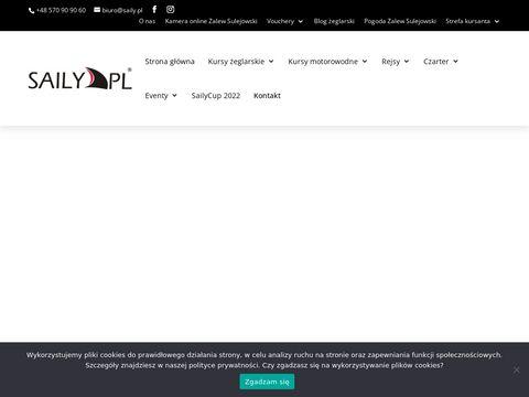 Kurs żeglarski zalew sulejowski - saily.pl