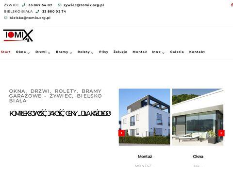 Okna drzwi rolety | Tomix-OKNA Bielsko Bia艂a 呕ywiec