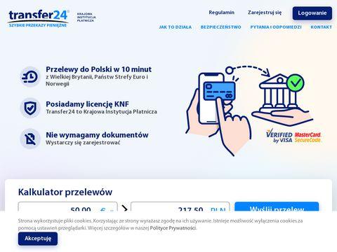 Transfer24 - Szybkie internetowe przelewy do Polski z Niemiec