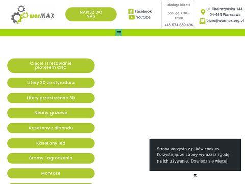 WarMAX - identyfikacje wizualne, konstrukcje reklamowe, kasetony