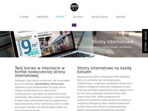 Tworzenie stron internetowych - projektowanie stron www