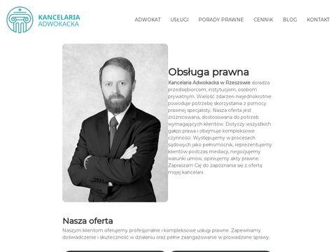 Adwokat Rzesz贸w | Kancelaria Adwokacka w Rzeszowie