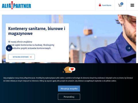 Alfa Partner - Toalety przenoÅ›ne, kontenery pracownicze
