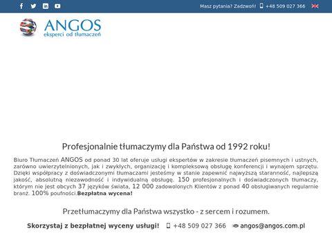 TÅ'umaczenia angielski - Angos.com.pl