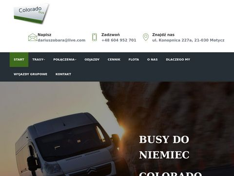 Przewóz osób do Niemiec - coloradobus.pl