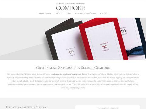 Comfore.pl - Oryginalne zaproszenia Å›lubne i komunijne
