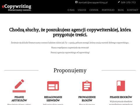 Pisanie tekst贸w na strony WWW