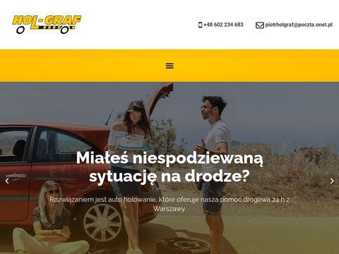 Pomoc drogowa 24h, autoholowanie, laweta - Warszawa Wola, Bemowo, Ochota - Hol-Graf