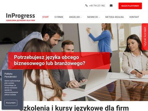 In Progress - Szkolenia j臋zykowe dla firm