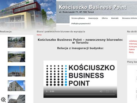 Powierzchnie biurowe do wynajęcia Toruń - kosciuszkopoint.pl