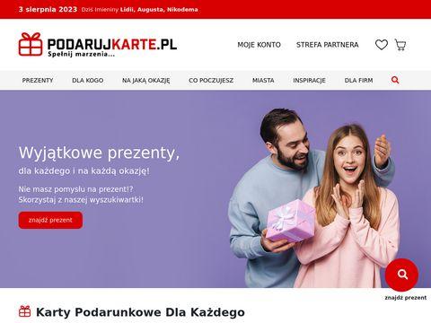 PodarujKartę.pl ⋆ Karty podarunkowe ⋆ Pomysł na oryginalny prezent