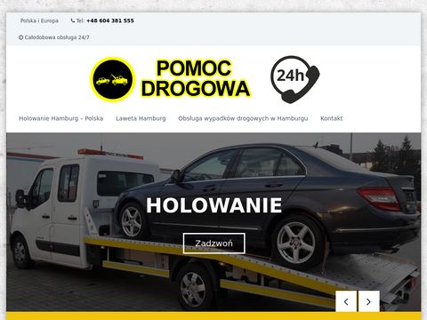 Pomoc-drogowa-hamburg.com.pl laweta Niemcy