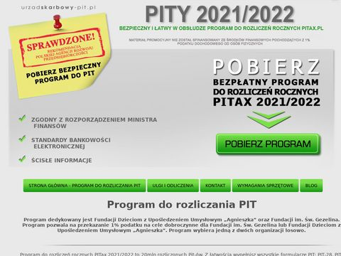 Urzadskarbowy-pit.pl - program do rozliczeń PIT