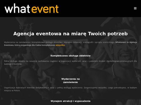 Agencja Eventowa Whatevent - Organizacja eventów, imprez firmowych