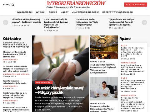 Baza wyrok贸w frankowicz贸w - wyrokifrankowiczow.pl